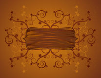 Board and squiggle, vector Royalty Free Stock Photo