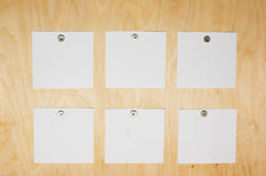 Board with stickers Royalty Free Stock Photo