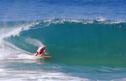 Board surfer at Aliso Beach, Laguna Beach, CA Stock Photo