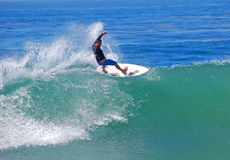 Board surfer at Brooks Street Beach, Laguna Beach, CA. Stock Photo
