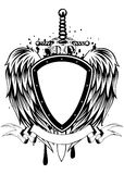 Board sword wings Royalty Free Stock Images