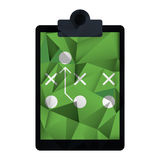 Board tactical diagram american football abstract geometric. Vector illustration eps 10 Stock Images