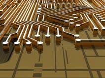 Board - Traces - 3D Stock Photo