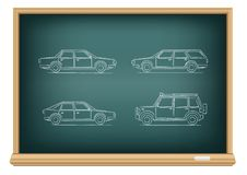 Board types of cars Royalty Free Stock Images