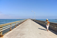 The board walk Point Loma California. Royalty Free Stock Photo