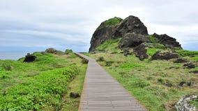 Board walk at San Xian Tai in Taiwan Stock Photo