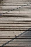 Board walk shadows Stock Photos