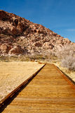 Board Walking Trail Through Desert Royalty Free Stock Photography