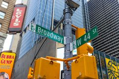 Board way ave in New York City Stock Photo