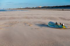 Board of windsurf on a beach. North of France stock photos