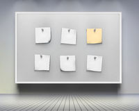 Board With Note Papers. Vector Illustration. Royalty Free Stock Photo
