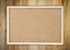 Board on wood Royalty Free Stock Image