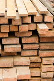 Board Wood in stacks. Royalty Free Stock Images