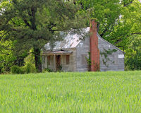 Boarded abandoned country home Royalty Free Stock Photo