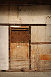 Boarded Closed Door Stock Image