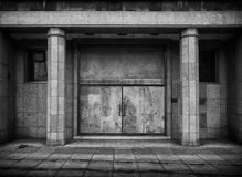 Boarded up doorway Stock Image