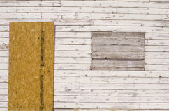 Boarded Up House. Boarded Up wooden House detail Stock Image