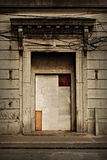 Boarded Up Old Building Entrance Royalty Free Stock Photos