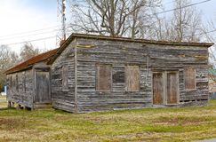 Boarded-up, Old Virginia Building Royalty Free Stock Photo