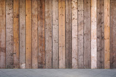 Boarded up wall with weathered wooden planks Stock Images