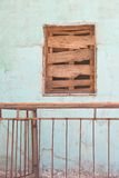 Boarded-up window Royalty Free Stock Photo
