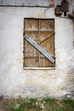 Boarded up window Royalty Free Stock Photography