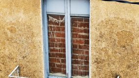 Boarded up window Royalty Free Stock Photos