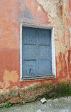 Boarded up window in an building Royalty Free Stock Photography