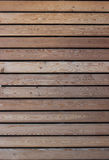 Boarded-up window. Horizontal wooden slats. Smooth wood texture Stock Photography