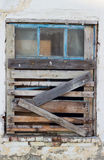 Boarded-up window. Tightly boarded up window boards Royalty Free Stock Photography