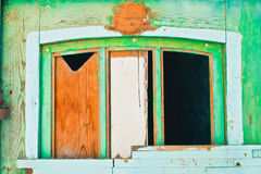 Boarded up window Royalty Free Stock Photo