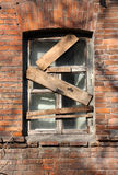 Boarded window Stock Images