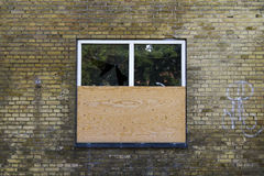 Boarded window Stock Photos