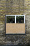 Boarded window Stock Photography