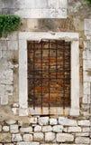 Boarded Window. Bricked up window in Zadar, Croatia Royalty Free Stock Image