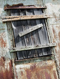 Boarded window Royalty Free Stock Photos