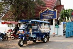 Boarder för Tha Khaek färjaterminal Royaltyfri Fotografi