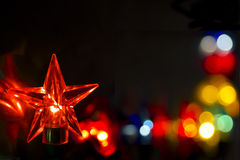 Boarder made from star fairy lights Royalty Free Stock Image