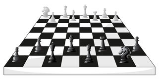Boardgame of chess in black and white Royalty Free Stock Photos