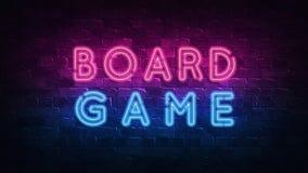 Boardgame Conceptual Image Leuchtreklame, gro?er Entwurf zu irgendwelchen Zwecken 3d ?bertragen Moderne Auslegung Retro- Emblem-D vektor abbildung
