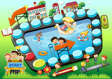 Boardgame de los niños Fotografía de archivo