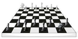 Boardgame des échecs en noir et blanc illustration stock