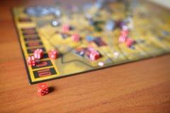 Boardgame em uma tabela Fotos de Stock Royalty Free