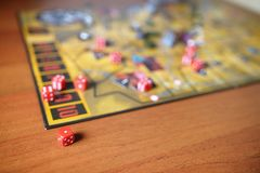 Boardgame on a table. Royalty Free Stock Photos