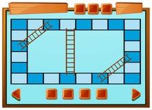Boardgamemalplaatje in blauwe kleur royalty-vrije illustratie