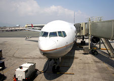 Boarding an Airplane Stock Photo