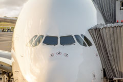 Boarding a big Airbus Royalty Free Stock Photo