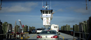 Boarding Car Ferry Royalty Free Stock Image
