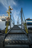 Boarding on the ferry boat. Royalty Free Stock Photo