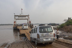 Boarding ferry on Mekong river Royalty Free Stock Photography